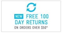 New: Free100 Day Returns On Orders Over $50^
