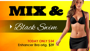 MIX and MATCH! Shop Black Swim Collection!