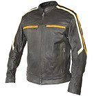 Xelement Men's 'Classic Cafe Racer' Leather Motorcycle Jacket