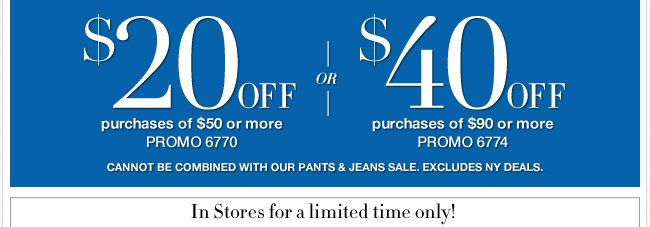 Plus, Save Up to $40 in stores & online!
