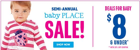 Semi-Annual Baby Sale! Deals for Baby $8 and under!