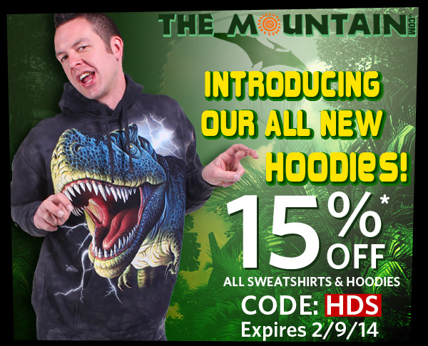 Introducing Our All New Hoodies! 15% Off* All Sweatshirts & Hoodies. CODE: HDS expires 2/9/14