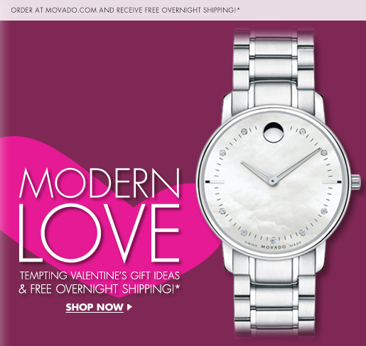 MODERN LOVE - TEMPTING VALENTINE'S GIFT IDEAS & FREE OVERNIGHT SHIPPING!* - SHOP NOW
