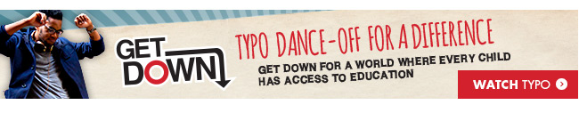 Watch as Typo dance off for a difference!