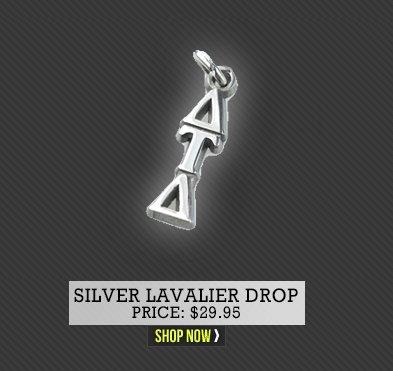 Silver Lavalier Drop