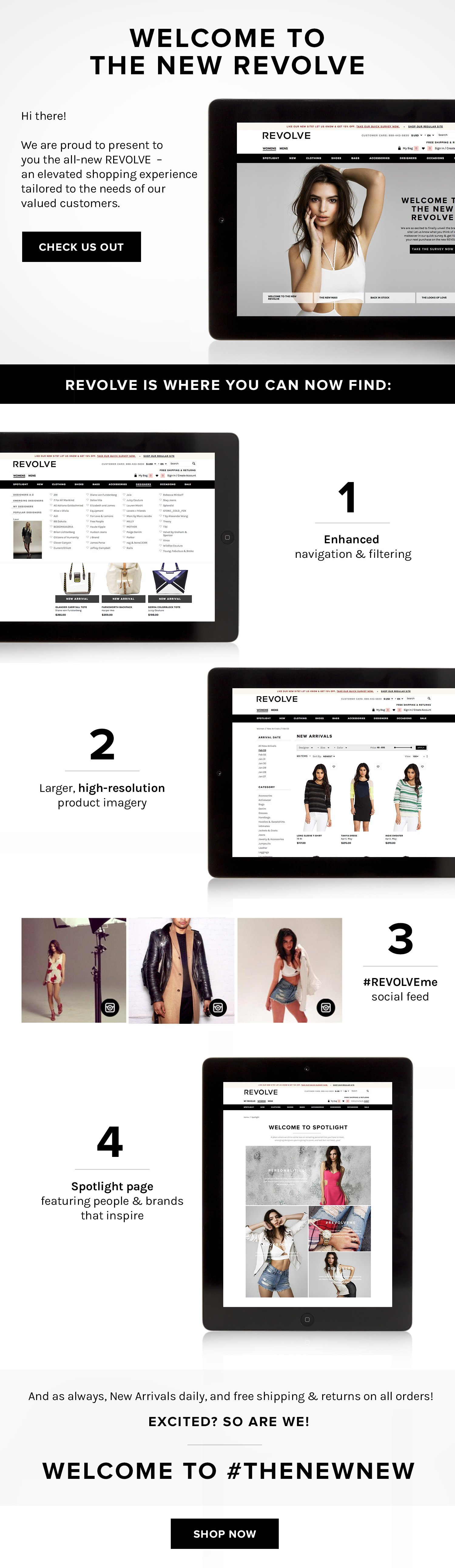Welcome To The New REVOLVE
