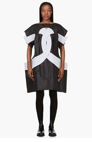 COMME DES GARÇONS Black & Grey Poncho Dress for women