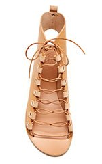 Lace-Up Leather Gladiator Sandals