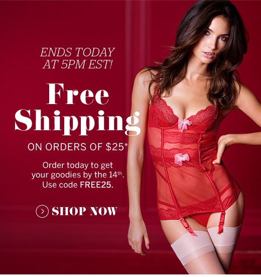 Free Shipping On Orders Of $25