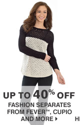 Up to 40% off Fashion separates from Fever, Cupio and more