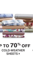 Up to 70% off Cold-weather sheets