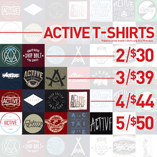 Active t-shirts 5 for $50