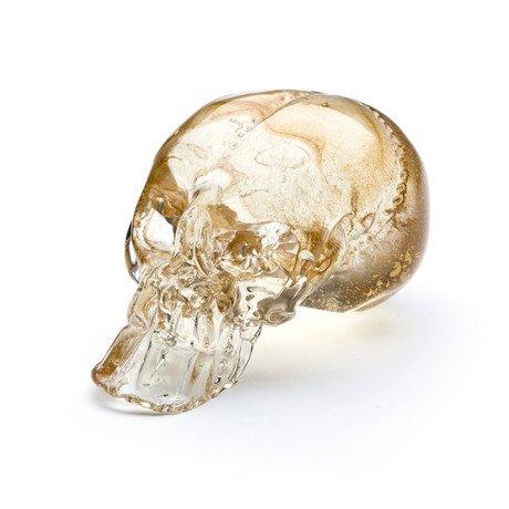 Guilded Skull // Clear + Gold Leaf