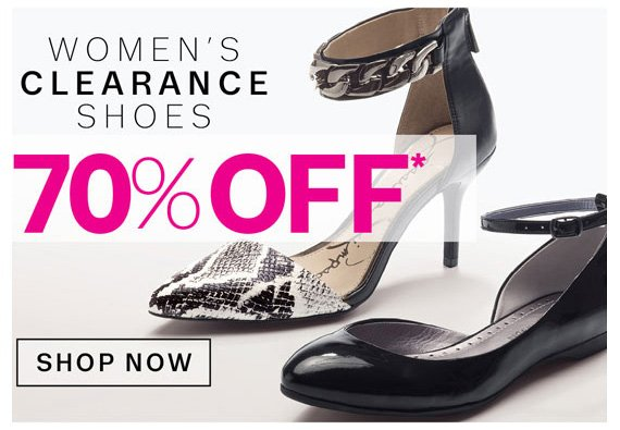 Women's Clearance Shoes 70% Off*. Shop Now