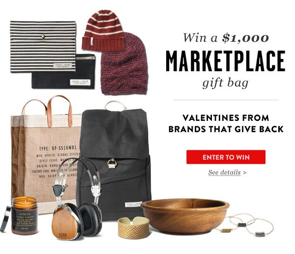 Win a $1,000 Marketplace Gift Bag