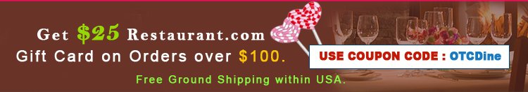 Get Special $25 Gift Card on Orders over $100. Free Ground Shipping within US.
