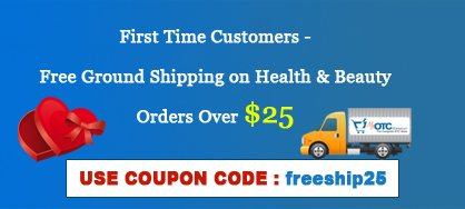 Free shipping on health and beauty orders over $25