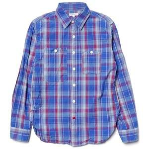 Engineered Garments Work Shirt - Newport Plaid Blue/Red