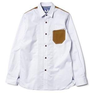 Junya Watanabe MAN Herringbone Elbow Patch Cotton Check Shirt