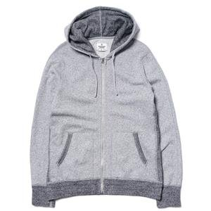 Reigning Champ Tiger Terry Full-Zip Hoodie White/Black