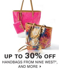 Up to 30% off Handbags from Nine West® and more
