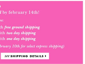 see shipping details.