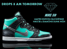 Nike SB x Diamond Dunk High: Drops at 8am Tomorrow