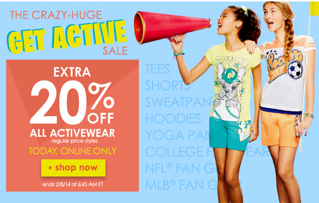 Extra 20% off activewear