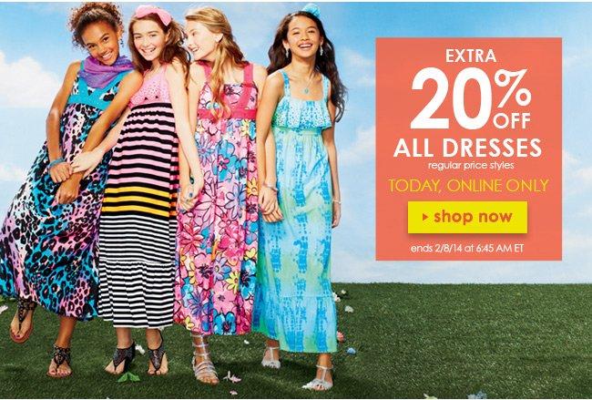 Extra 20% off dresses