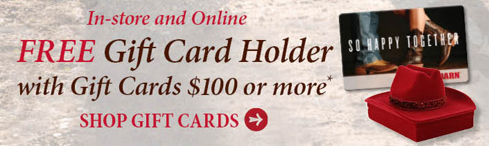 Free Gift Card Holder With Gift Card $100 or more
