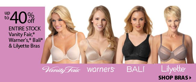 Up to 40% off Select Bras