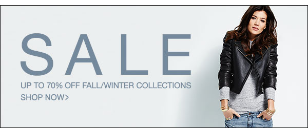 Up to 70% off fall/winter collections >>