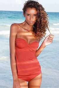 LASCANA Red 5-Way Underwired Bandeau Tankini £59