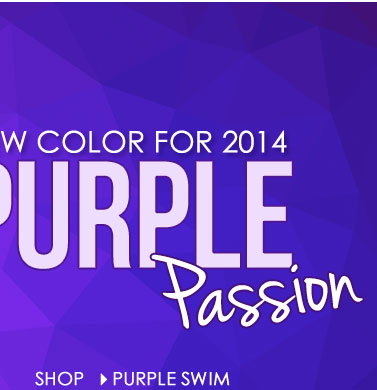 Get Ready for Summer - NEW SWIM COLOR for 2014! SHOP Purple Passion Swimwear!