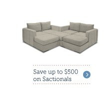 Save up to $500 on Sactionals!