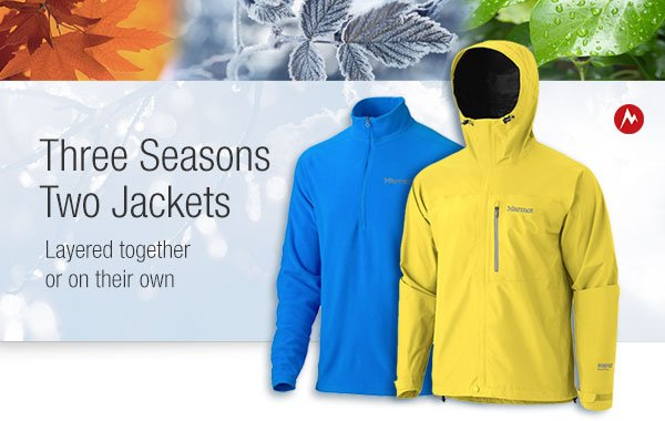 3 Seasons, 2 Jackets: Layered together or on their own.