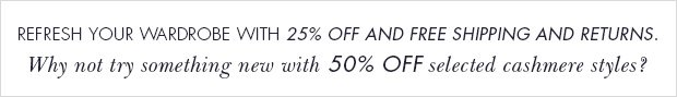 Download Images: Refresh your wardrobe with 25% off plus free delivery and returns.