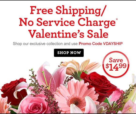 Free Shipping/No Service Charge* Weekend Sale  Shop the exclusive collection and use Promo Code VDAYSHIP at checkout. Shop Now