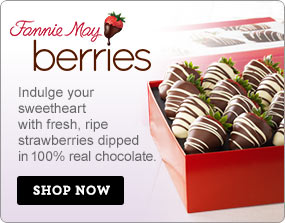 Fannie May Berries Indulge your sweetheart with fresh, ripe strawberries dipped in 100% real chocolate. Shop Now