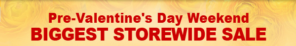 Pre-Valentine's Day Weekend BIGGEST STOREWIDE SALE + Your Extra Deep Discount Coupon Code