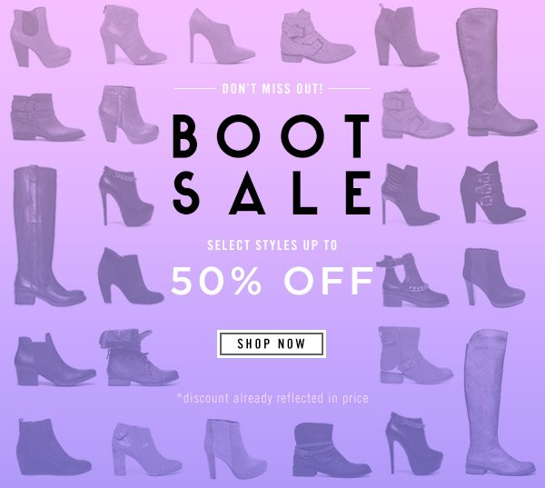 Don't Miss Out! Shop the Boot Sale