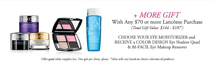 One gift per client. Offer valid while supplies last