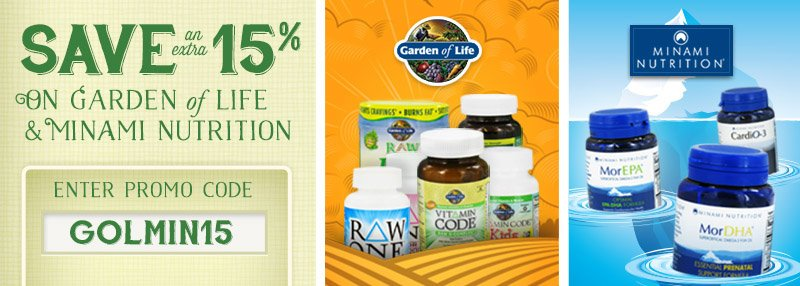 Save on Garden of Life & Minami Nutrition