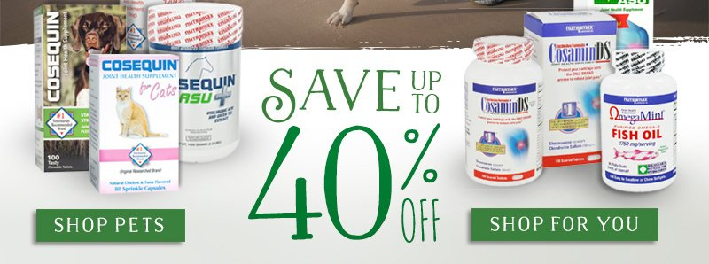 Save Up To 40% Off Cosamin & Cosequi