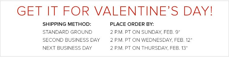 Valentines Day Shipping Deadlines