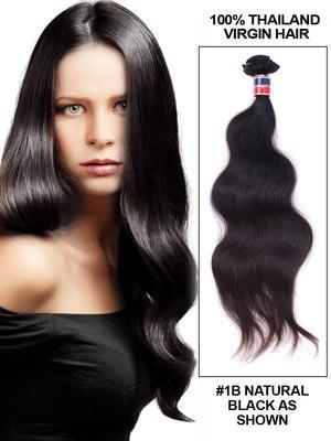 26' Body Wave Thailand Virgin Hair Extension Weft - Natural Black (#1B)