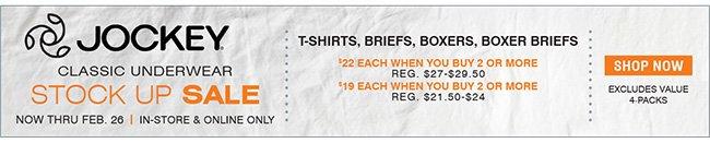 Shop 2-for Jockey Underwear