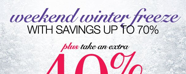Take an Extra 40% off items from a special collection! Use RDWINTER