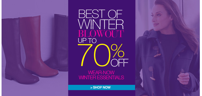 Best of Winter Blowout, U tp 70% Off