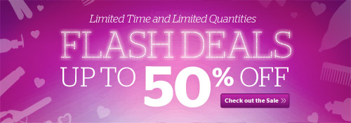 Flash Deals! Up to 50% off